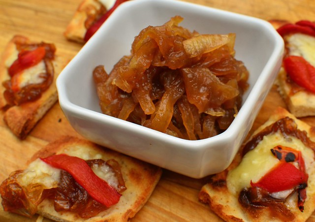 Mmm... onion jam and aged swiss/asiago recipe cheese on nan bread - Flickr - Photo Sharing!