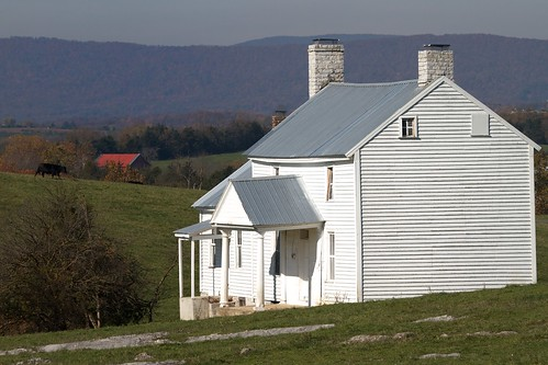 autumn white house fall rural landscape virginia cow farm civilwar shenandoah battlefields