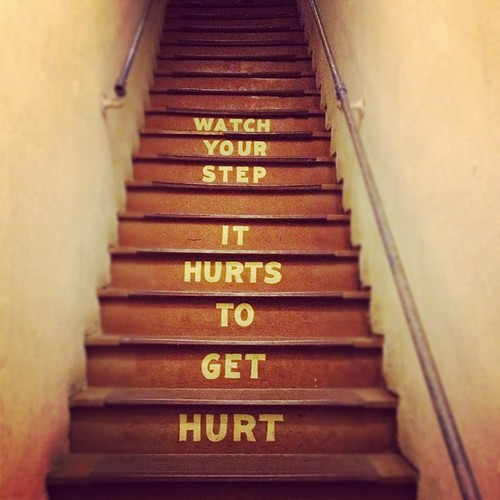 It hurts to get hurt #themoreyouknow [pic]