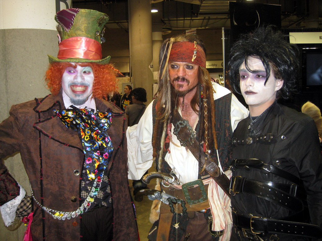Johnny Depp Character Trio The Mad Hatter And Jack Sparrow Flickr