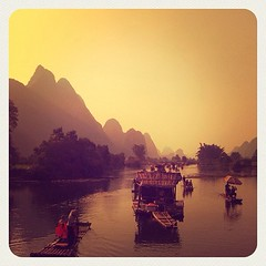 Recordando #china #river #li #gulim #chinese #sun #light #igerextremadura #igers #iphonesia #boat
