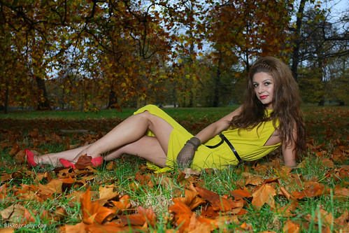 iliyana - Laying in the Autumn Leaves