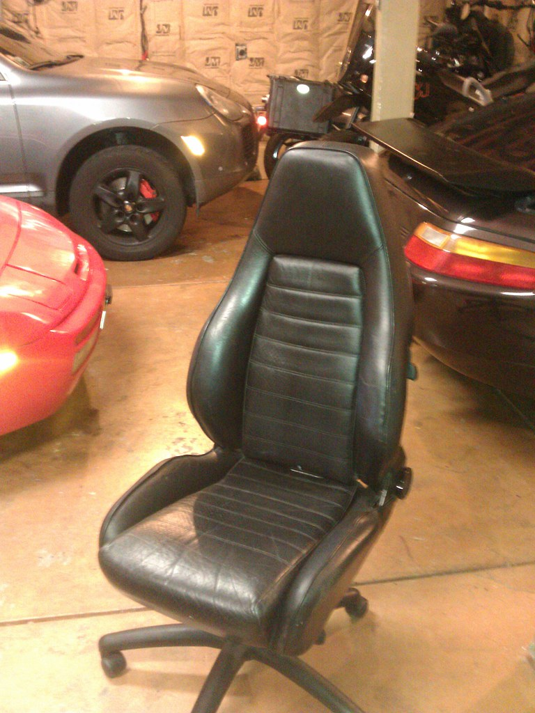 car seats as office chairs rennlist porsche discussion forums. Black Bedroom Furniture Sets. Home Design Ideas