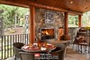 Custom Outdoor Space | Milled Log Home | PrecisionCraft Log Homes by PrecisionCraft Log & Timber Homes