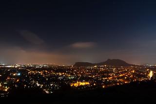 View of Edinburgh at night