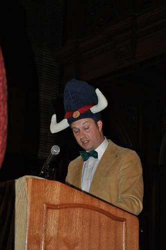 Miles Rohan, President, in his Grand Poobah hat by abbydid by abbydid