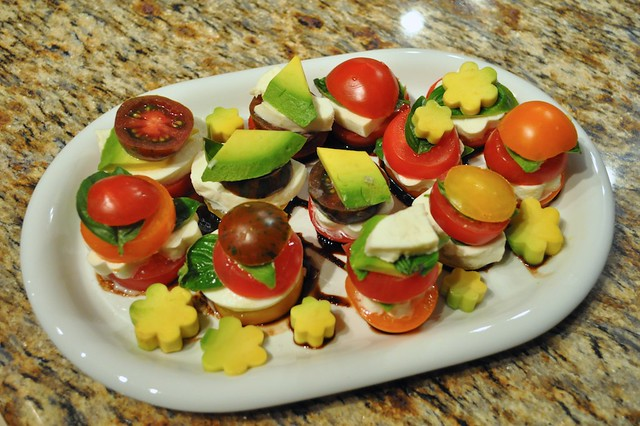 Tomato Mozzarella and Avocado Salad