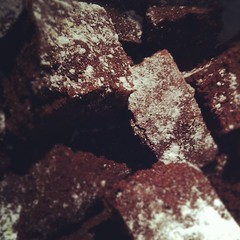 Saturday Night Brownie bake-up, good for midnight snacking!