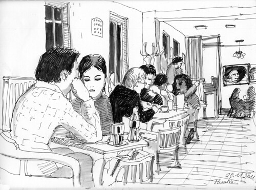 Sunday evening in the Restaurant Theatro by manfred schloesser