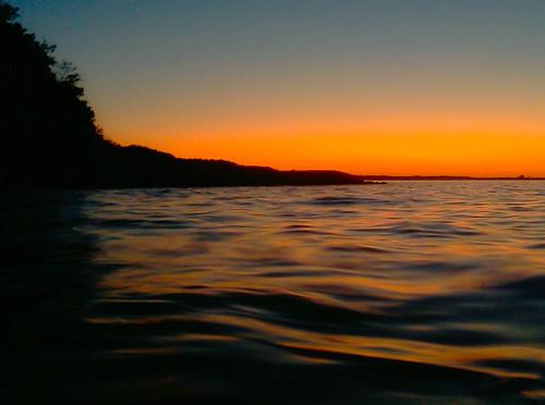 blue sunset orange lake water twilight waves view blueandorange orangesunset solemneye