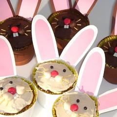 cake(0.0), easter(0.0), easter bunny(1.0), food(1.0), cake decorating(1.0), dessert(1.0), pink(1.0),
