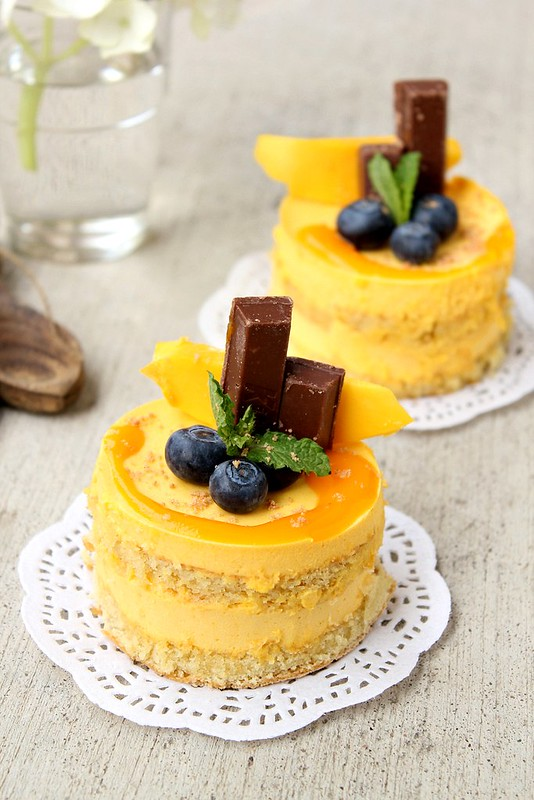 Mango Cake Using Condensed Milk