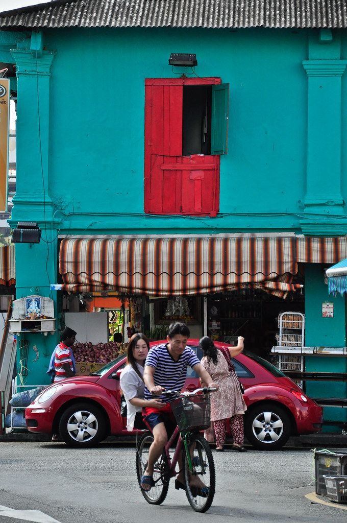 On the streets of Little India ...