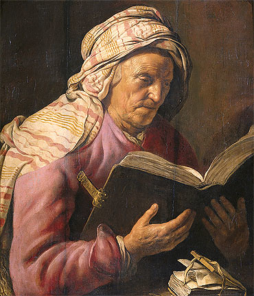 Rembrandt Old Woman Reading 1625 from Flickr via Wylio