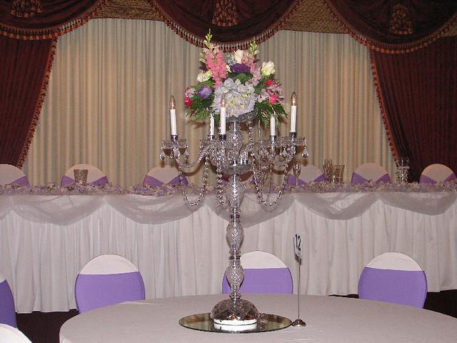 Crystal Candelabra Wedding