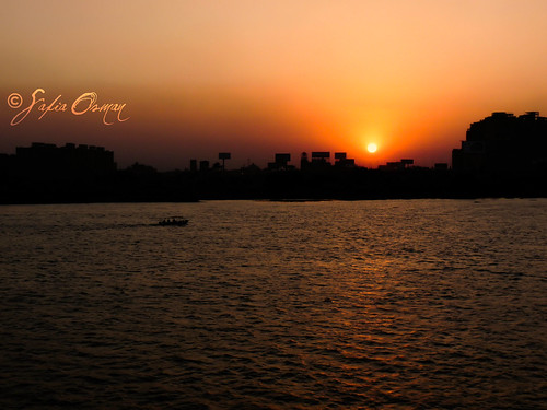Sunset over Cairo, Egypt