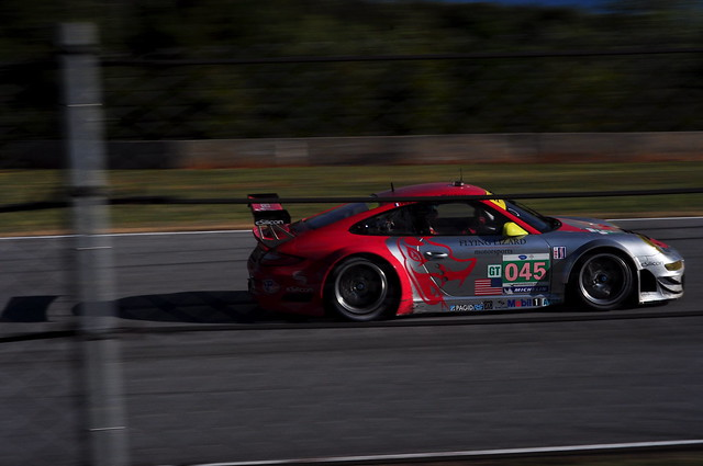Flying Lizard GT3 RSR thru Turn 1