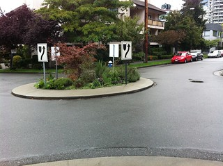 Just so I'm clear- are these roundabouts or do you make left turns to the left of them?