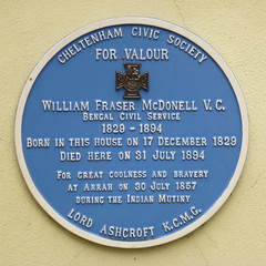 Photo of William Fraser McDonell blue plaque