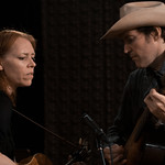Gillian Welch & David Rawlings performance and interview live in Studio-A. Photo credit Tim Teeling.
