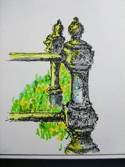 old iron posts at cemetary by busbiker/Rodrick