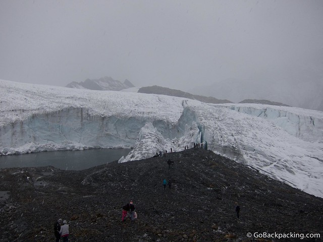 Pastoruri Glacier is shrinking due to global warming