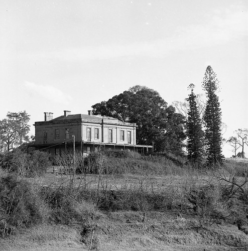 From across the river, Aberglasslyn House, Aberglasslyn, NSW, Australia - March 24, 1961