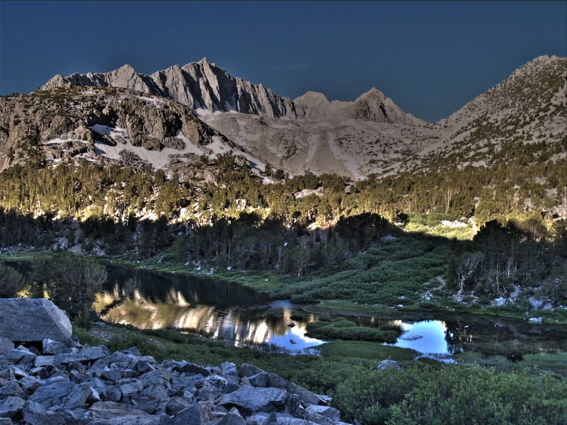 Bishop Pass Trail - Spearhead Lake HDR