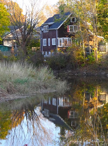 sunset house fall water reflections river kentville cornwallisriver minersmarsh sonydschx100v