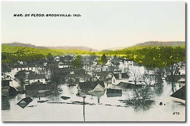 Scene from Brookville, IN after Great Flood of 1913