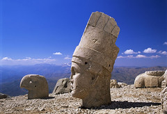 Colossal Head of Antiochus I, Nemrut, Adiyaman, Turkey, photographer unknown