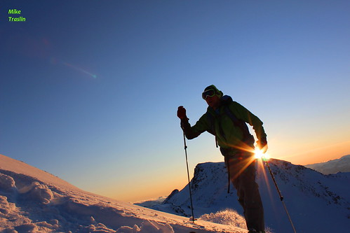 Solar Power..  Photo Mike Traslin...skier Andy T..