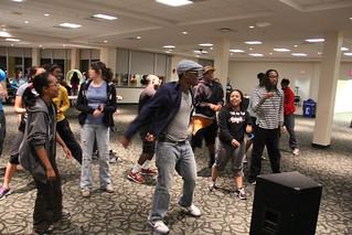 Students having fun in the dorm