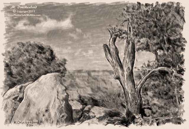 Grand Canyon Arizona, a digital pencil drawing | Flickr ...