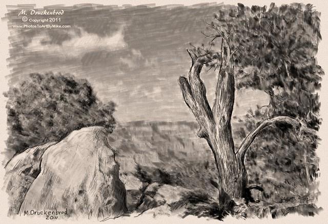Grand Canyon Arizona, a digital pencil drawing | Flickr ...