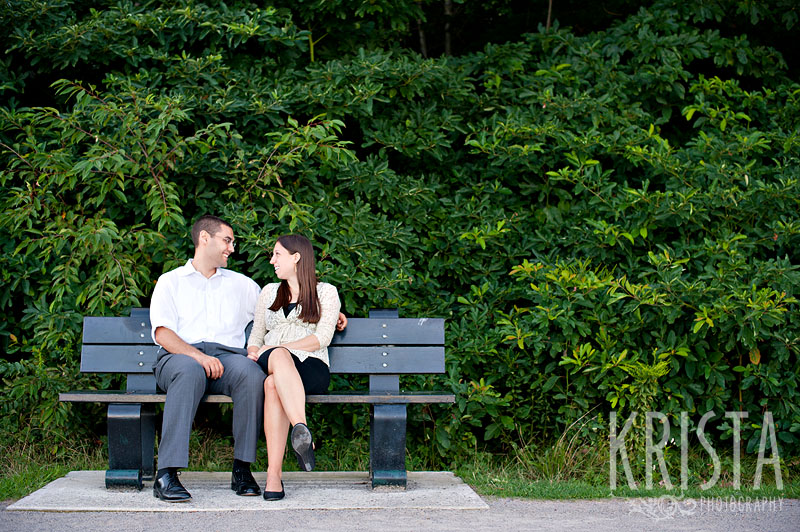 Summer Engagement Session by the pond
