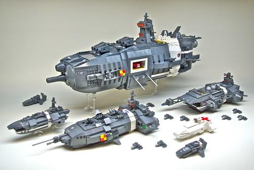 U.E.F. Battle Group - Microscale LEGO spaceships (1)