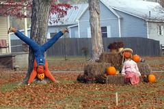 Small Town Fall Scene