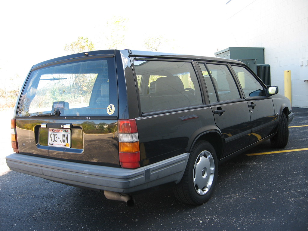 1990 Volvo 740 Turbo wagon - automatic - black on black