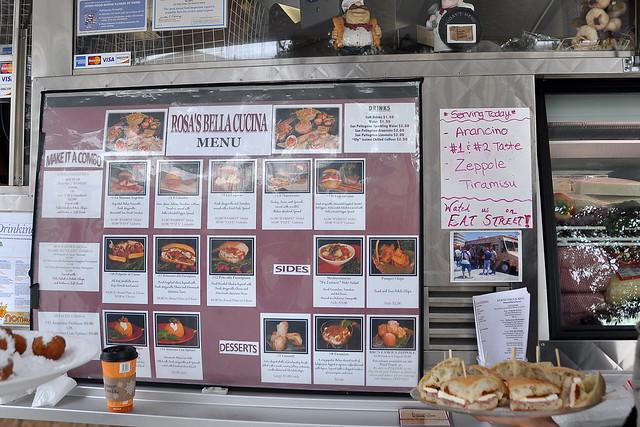 Rosa 39 s bella cucina menu food truck lunch by for Z cucina menu