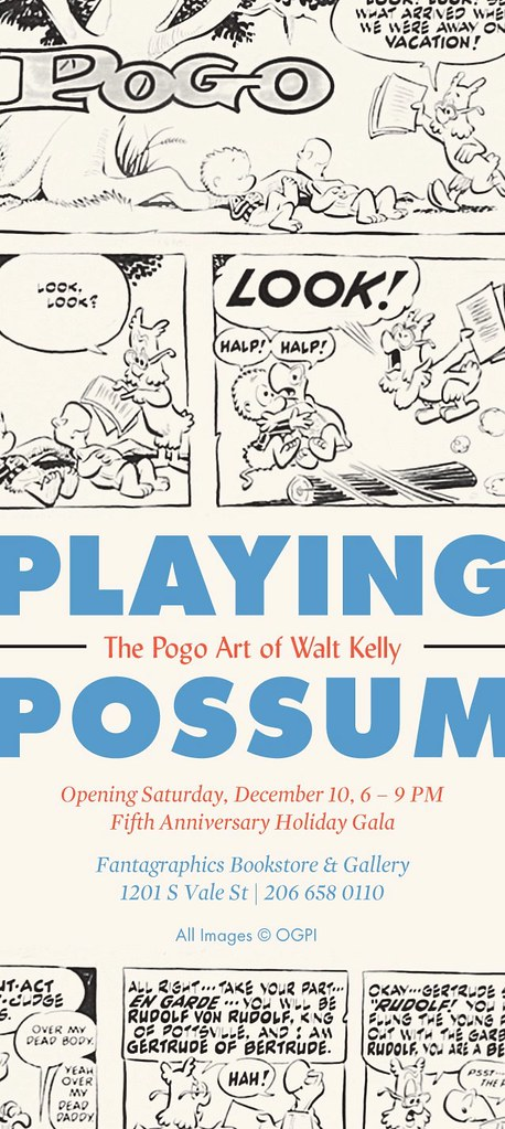 Playing Possum: The Pogo Art of Walt Kelly at the Fantagraphics Bookstore & Gallery, Seattle