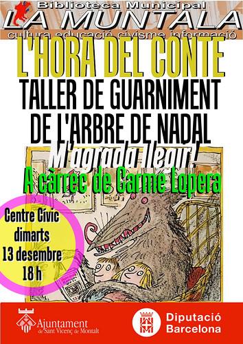 Hola del conte i taller de guarniment de l'arbre de Nadal @ dimarts 13 desembre 18 h by bibliotecalamuntala