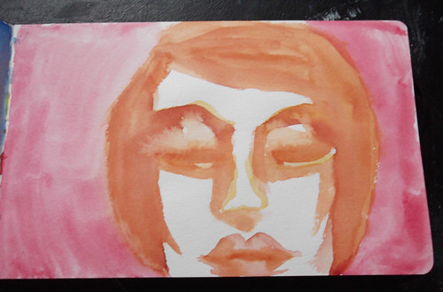 Watercolor Face #1 by literarytease