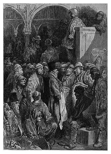 017-Billingsgate apertura del mercado-London A Pilgrimage 1890- Blanchard Jerrold y Gustave Doré- © Tufts Digital Library