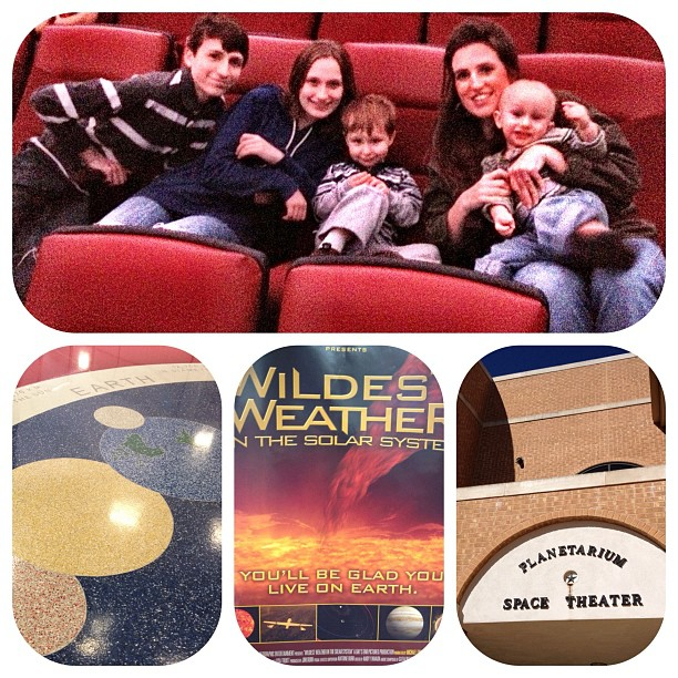 Planetarium Fieldtrip last Friday #homeschool #motherletters