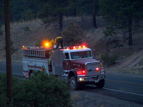 Fire unit on West Jemez Rd.