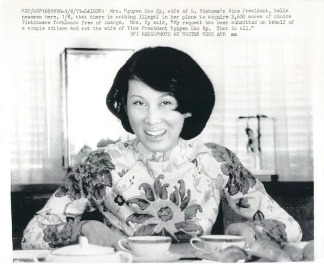 Saigon 1971 - Mrs. Nguyen Cao Ky (Mme. Dang Tuyet Mai)