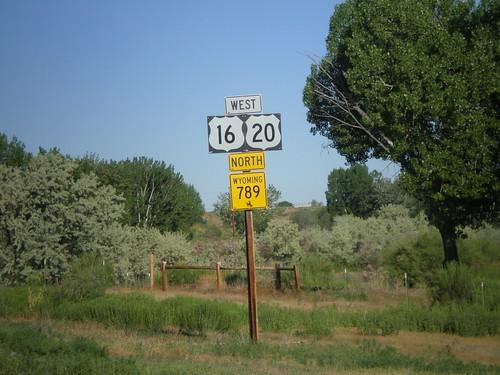 US-16/US-20 West/WY-789 North - Manderson