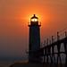 Sunset@Manistee-Pier-Light-Summer-2011-PSE9-6_1 by sdnowakowski