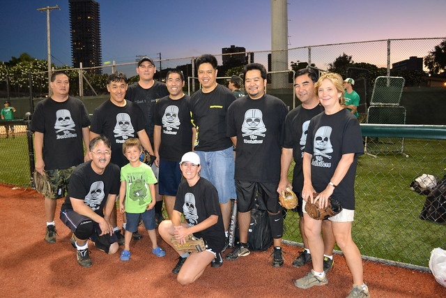 <p>The UH System Darksiders team for the UH AUW Softball Tourment at Les Murakami Stadium on Sept. 30, 2011</p>